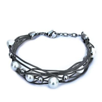 Ocelový náramek - Perličky / Kuličky (v020)