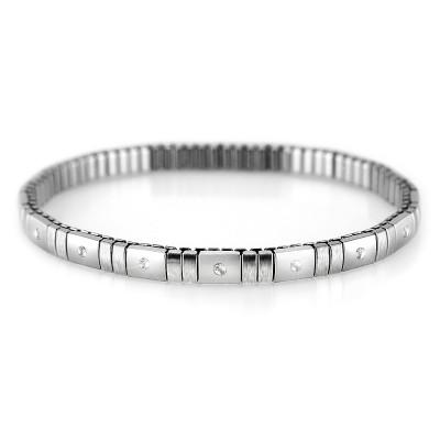 Ocelový náramek - PRIM / bílé kameny / Crystals PRECIOSA  (5619)