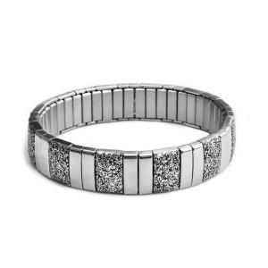 Ocelový náramek - Prim / Shiny / Silver Black (Flx.6441)
