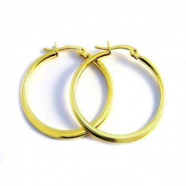 Ocelové náušnice EXEED - Circles 3 cm IPG (3127)