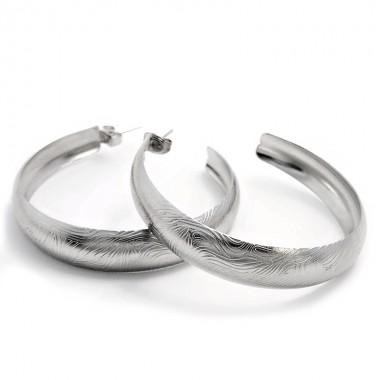 Ocelové náušnice EXEED - Circles (5cm/3299)