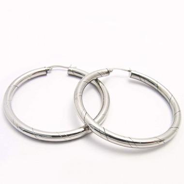 Ocelové náušnice - Kruhy 5 cm / Circles EXEED (3363)