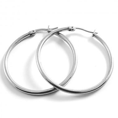 Ocelové náušnice Exeed - Kruhy / Circles 3 cm