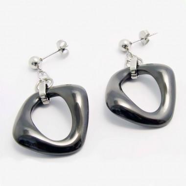 Ocelové náušnice EXEED - Ceramic Black  (5036)