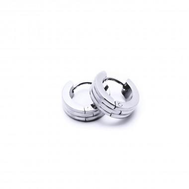 Ocelové náušnice EXEED - Kroužky Leštěné 1 cm (40426)