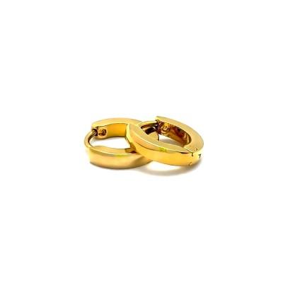 Ocelové náušnice EXEED - Kroužky Zlacené 1,1 cm (42030)