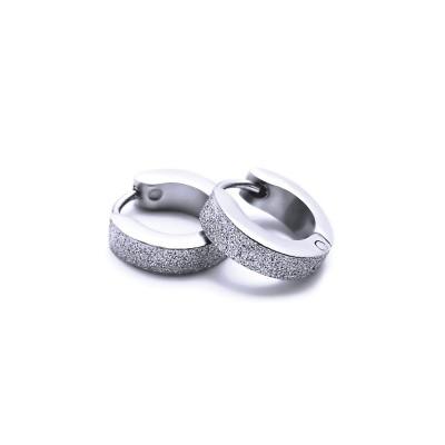 Ocelové náušnice EXEED - Kroužky Pískované 1,1 cm (40204)