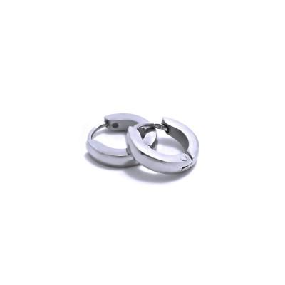 Ocelové náušnice EXEED - Kroužky / Circle 1 cm (5496)