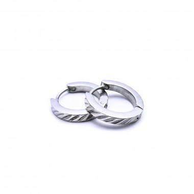 Ocelové náušnice - Kroužky / Circle / shiny 1,4 cm (43039)