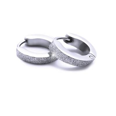 Ocelové náušnice EXEED - Kroužky Pískované 1,3 cm / 2 mm (v2021)