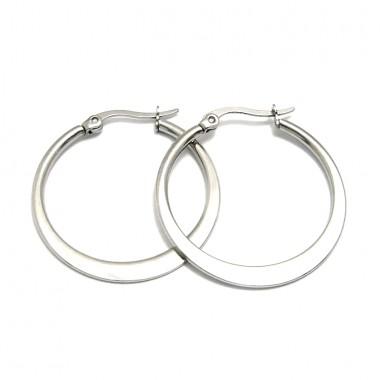 Ocelové náušnice Exeed - Kruhy / Circles 2,5 cm (6024)