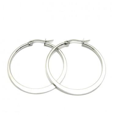 Ocelové náušnice Exeed - Kruhy / Circles 3 cm (6025)