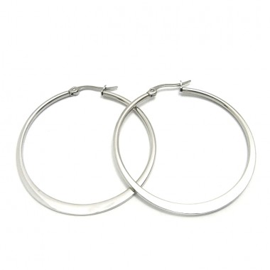 Ocelové náušnice Exeed - Kruhy / Circles 5 cm (6027)
