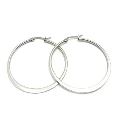Ocelové náušnice Exeed - Kruhy / Circles 4 cm (6026)