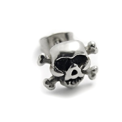 Ocelové náušnice EXEED - Lebka / Skull (3210)
