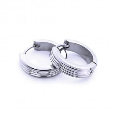 Ocelové náušnice EXEED - Kroužky / Leštěné 1,6 cm (40708)