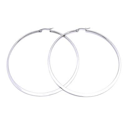 Ocelové náušnice EXEED - Circles 7 cm (60298)