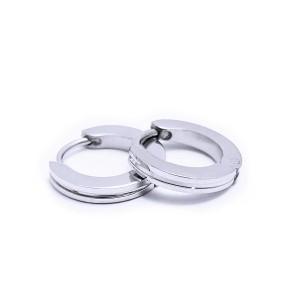 Ocelové náušnice EXEED - Kroužky / Circle / shiny 1,4 cm (6009)