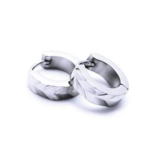 Ocelové náušnice EXEED - Broušené Kroužky / Circle 1,3 cm (40256)