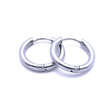 Ocelové náušnice EXEED - Kroužky / Leštěné 1,7 cm (40580)