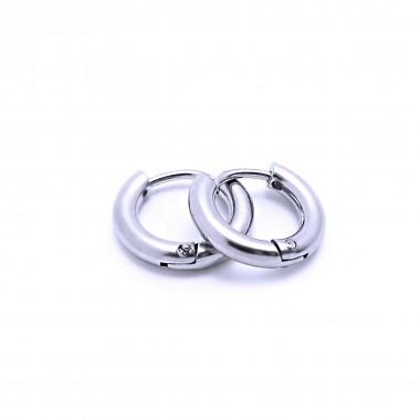 Ocelové náušnice EXEED - Kroužky / Leštěné 1,3 cm (40579)