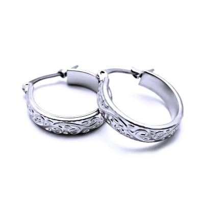 Ocelové náušnice Exeed - Kruhy / Circles 1,8 cm (40712)