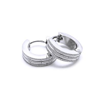Ocelové náušnice EXEED - Kroužky / Pískování 1,3 cm (40598)