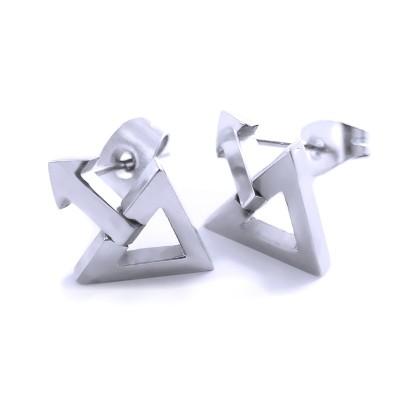 Ocelové náušnice EXEED - Trojúhelník / Triangl / Shiny (2784)