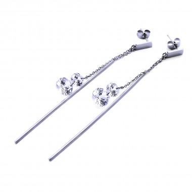 Ocelové náušnice EXEED - Pendulous / Shiny / Stones (40163)