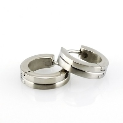 Ocelové náušnice - Circle 1,4 cm (136.Matt/shiny)