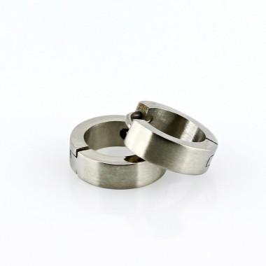 Ocelové náušnice - Kroužky 1,3 mm  Matt (es126)