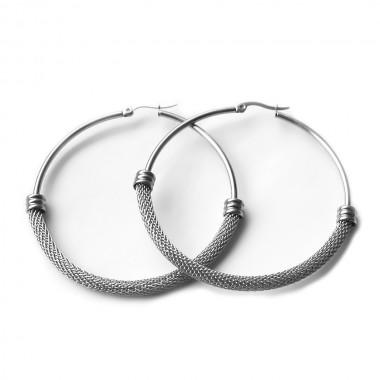 Ocelové Náušnice - Kruhy 6 cm / Lesk MC (7071)
