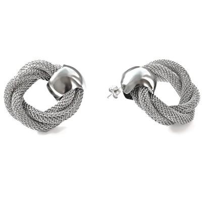 Ocelové náušnice - Uzlíky / Knot (7001)