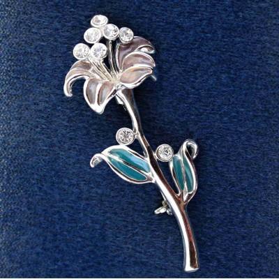Brož - Flower Swarovski comp. (09/217001)