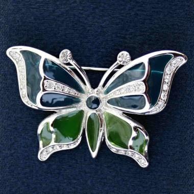 Brož - Butterfly Swarovski comp. (09/273401)
