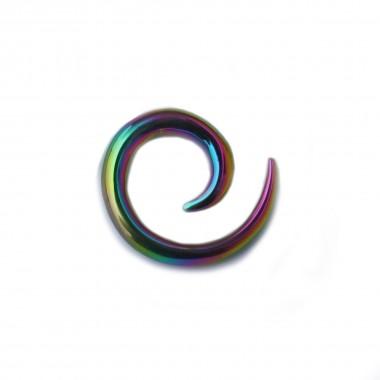Roztahovák Ocelový - Šnek barevný 01 (5mm)