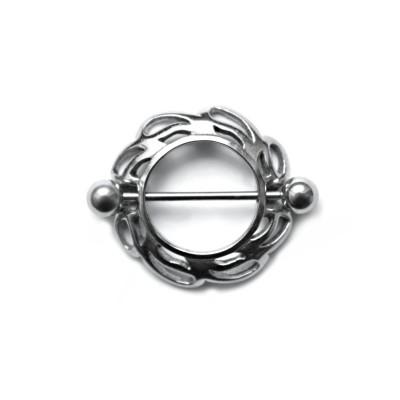 Ocelový piercing - spercíál do bradavky 01 (1,6x5mm)