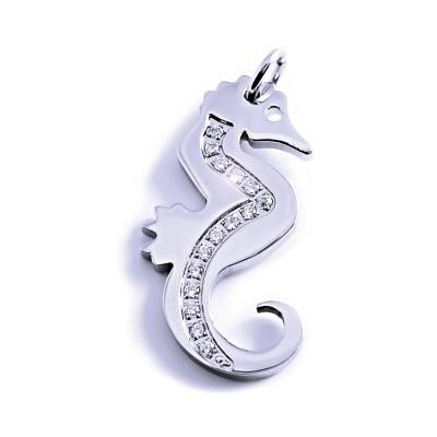 Ocelový přívěsek A.NICOL - Mořský koník / Seahorse