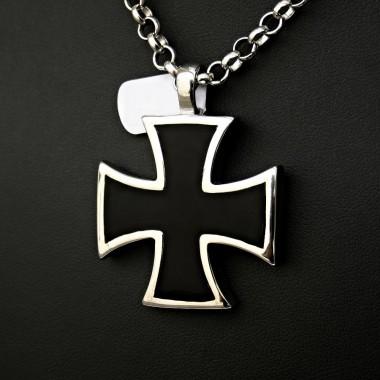 Ocelový přívěsek - Iron Cross V