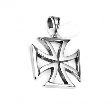 Ocelový přívěsek - Kříž / Iron cross VI / shiny