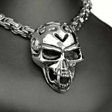 Ocelový přívěsek - Vampire / Skull / Lebka