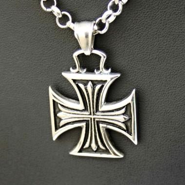 Ocelový přívěsek - Iron Cross H