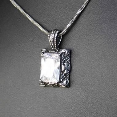 Ocelový přívěsek -  Oblong/Stone