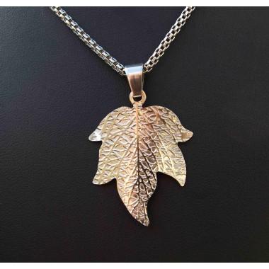 Ocelový přívěsek Leaf I.