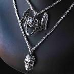 Ocelový Přívěsek - Mrtvá Valkýra s helmicí / Dead Shieldmaiden (018)