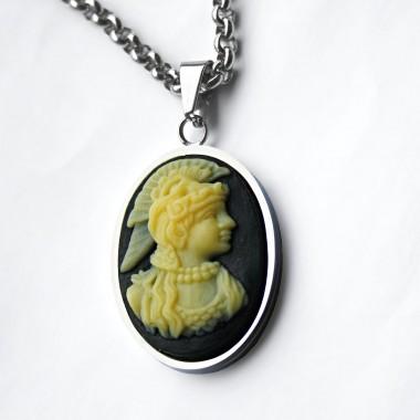 Ocelový přívěsek - Bohyně Athéna / Athena Goddess
