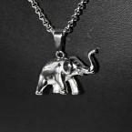 Ocelový přívěsek - Slon / Elephant (V016)