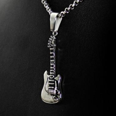 Ocelový přívěsek - Kytara / Guitar II / 016
