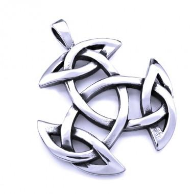 Ocelový přívěsek - Triquetra Symbol / Celtic / Pagan