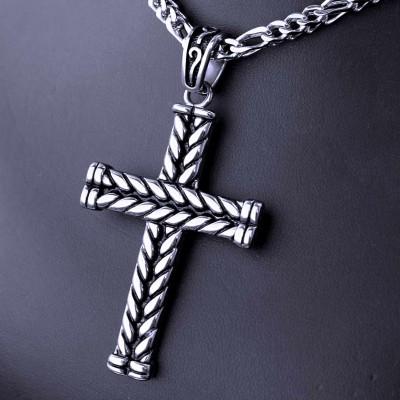 Ocelový přívěsek - Kříž / Lesk / Cross / Shiny (020)